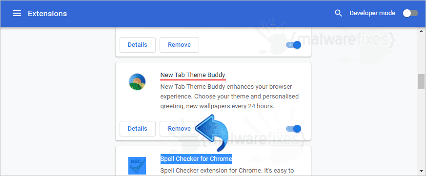 Image of New Tab Theme Buddy extension