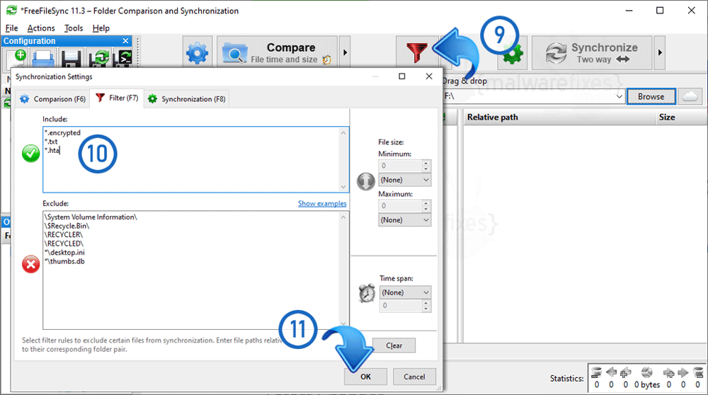 Image of Included Encrypted Files