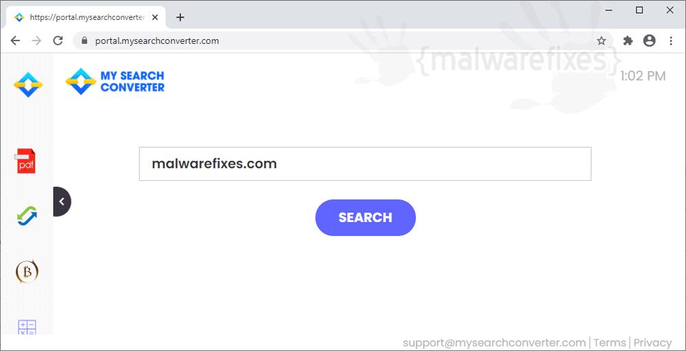 Screenshot image of MySearchConverter