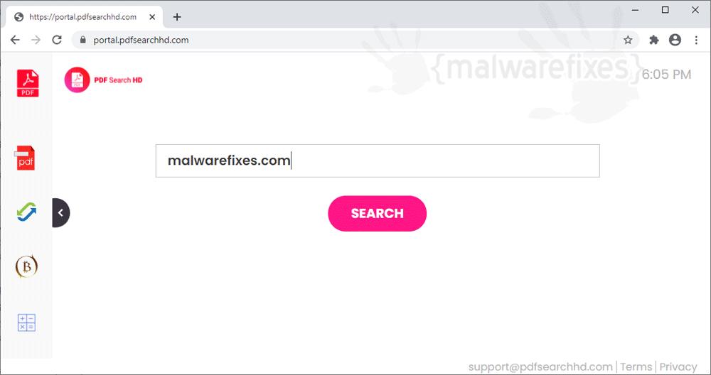 Screenshot of PDF Search HD website