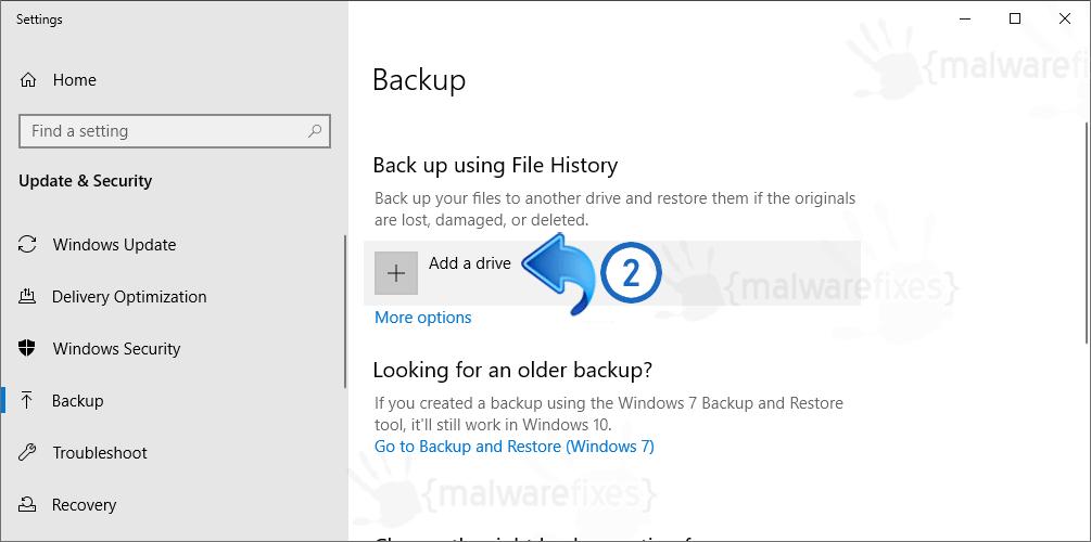 Image of Adding Backup Drive