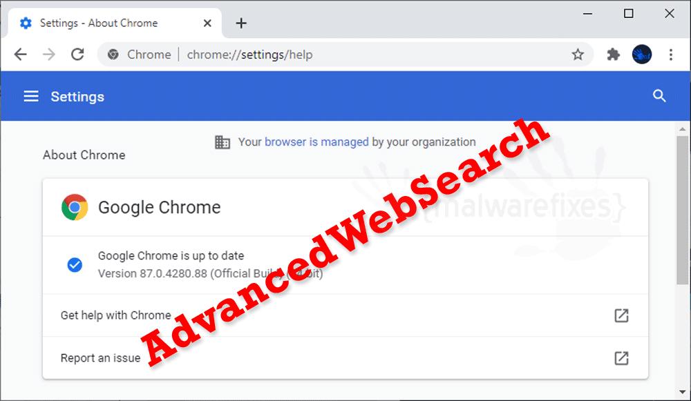 Screenshot of AdvancedWebSearch