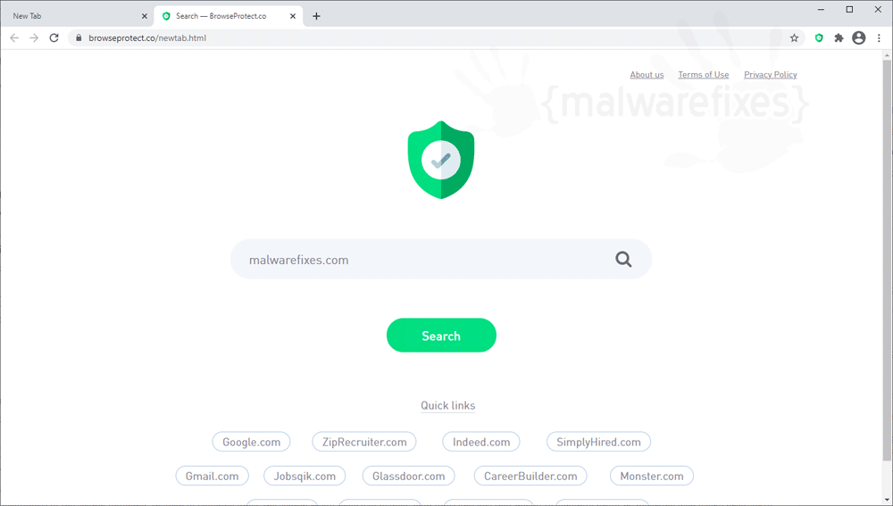 Screenshot of Browseprotect.co homepage