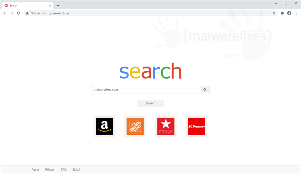 Screenshot of Cybersearch.xyz website