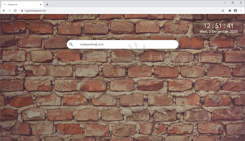 Screenshot of Hyperlink Search website