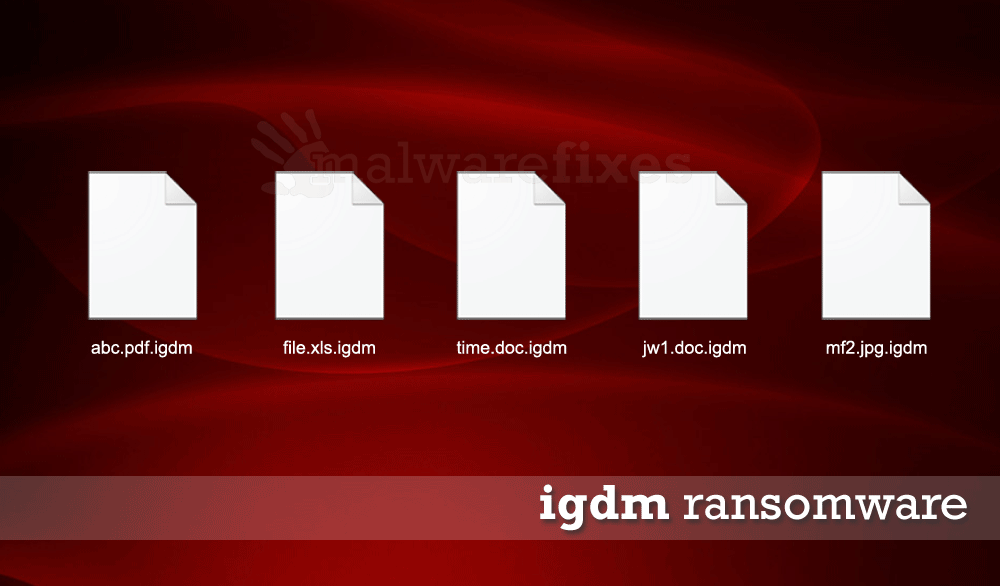 Screenshot of Igdm encrypted files