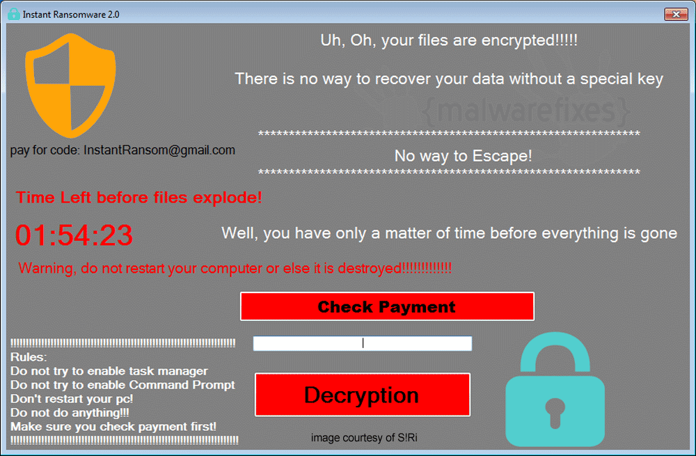 Screenshot of Instant Ransomware 2.0