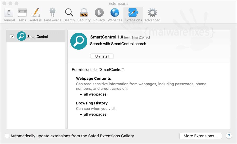Screenshot of SmartControl for Mac
