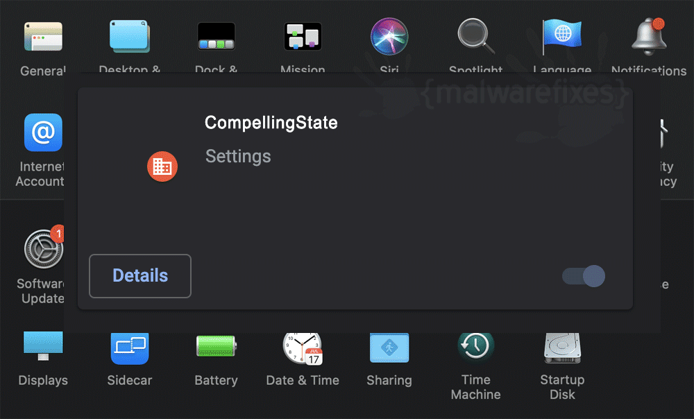 Screenshot of CompellingState for Mac