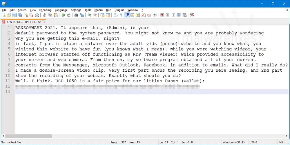 Screenshot of CryptPethya ransom note