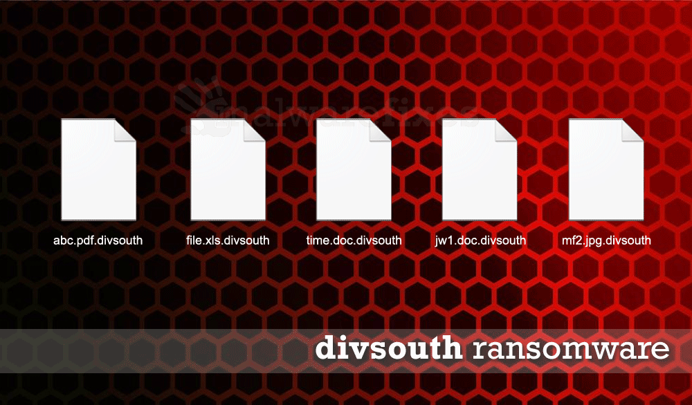 Screenshot of Divsouth encrypted files