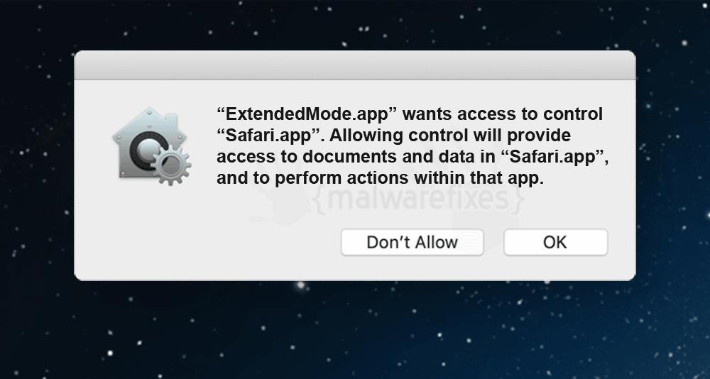 Screenshot of ExtendedMode for Mac