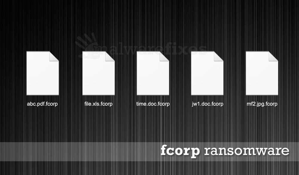 Illustration of Fcorp encrypted files
