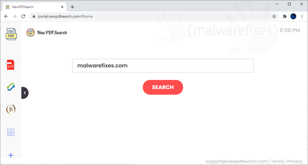 Screenshot of NewPDFSearch