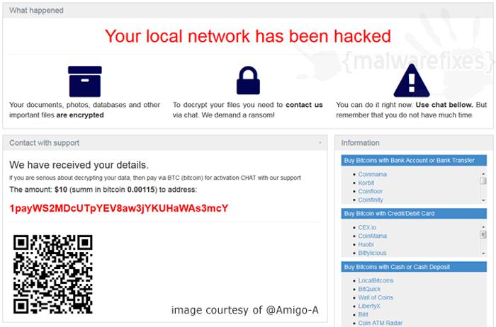 Screenshot of Paymen45 ransom note