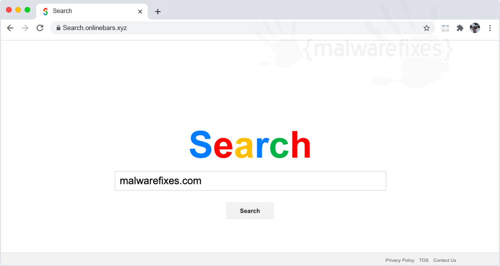 Screenshot of Search.onlinebars.xyz website