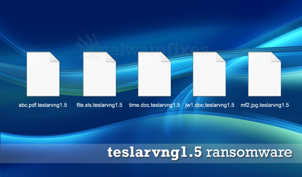 Screenshot of teslarvng1.5 encrypted files