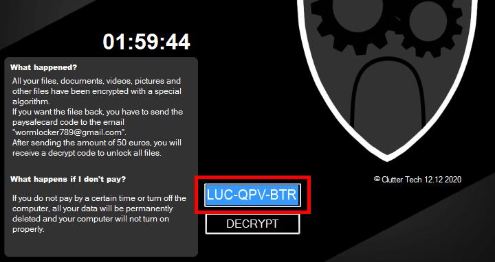Image of WormLocker unlocking