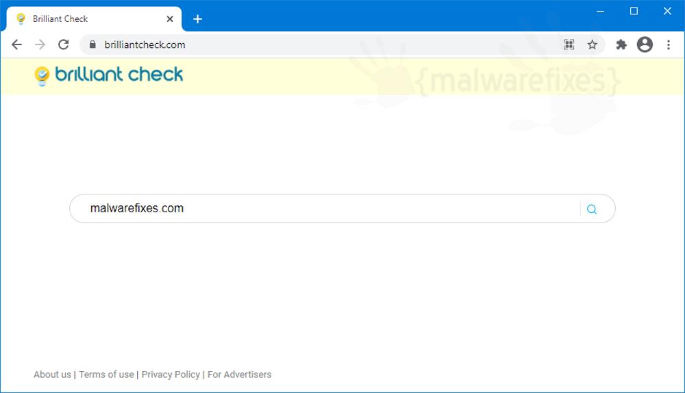 Screenshot of Brilliant Check homepage