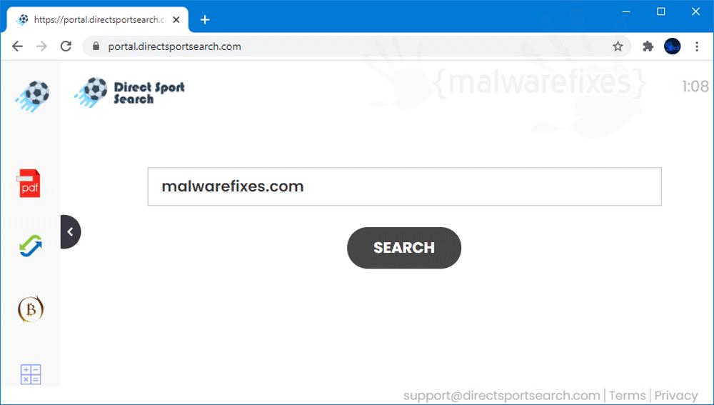 Screenshot of DirectSportSearch