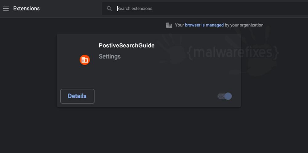 Screenshot of PostiveSearchGuide