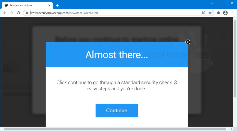 Screenshot of Securybrowseapp.com