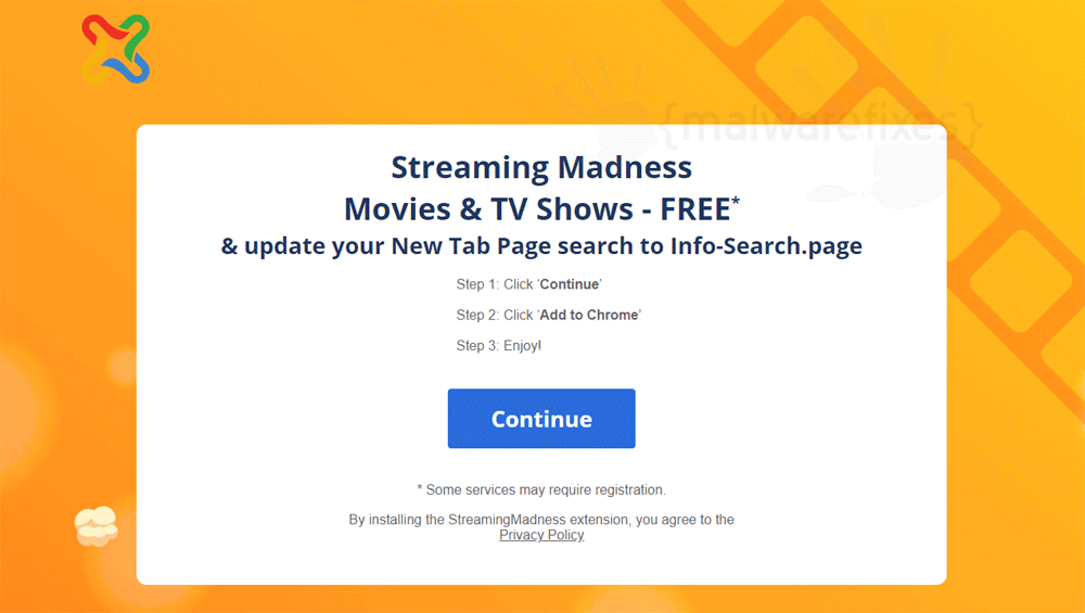 Screenshot of Streaming Madness website