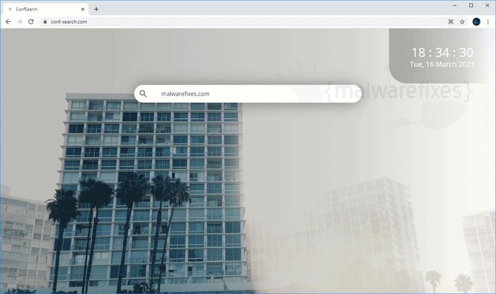 Screenshot of Conf-search.com website