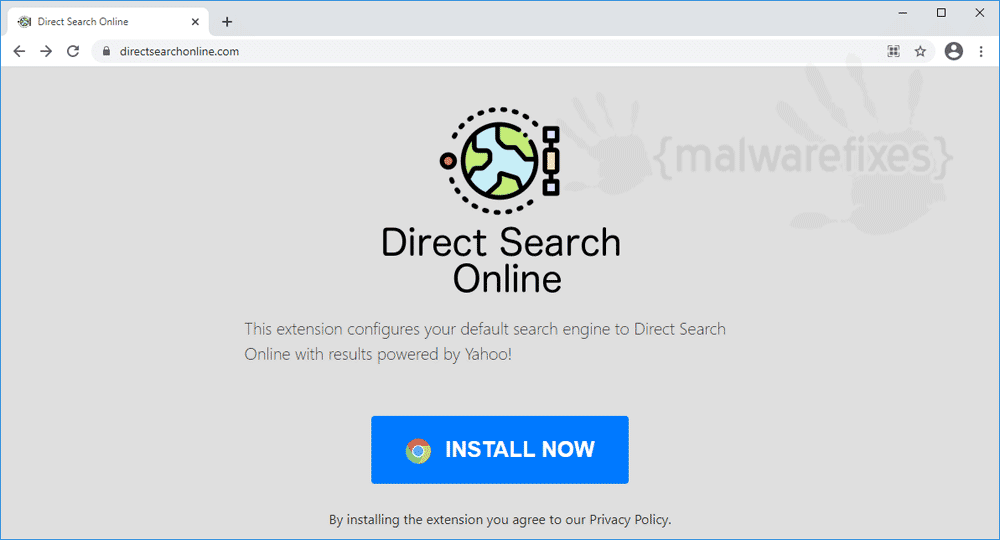 Screenshot of Direct Search Online