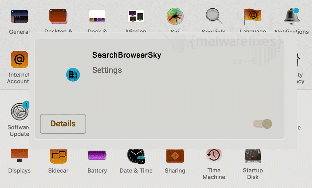 Screenshot of SearchBrowserSky App