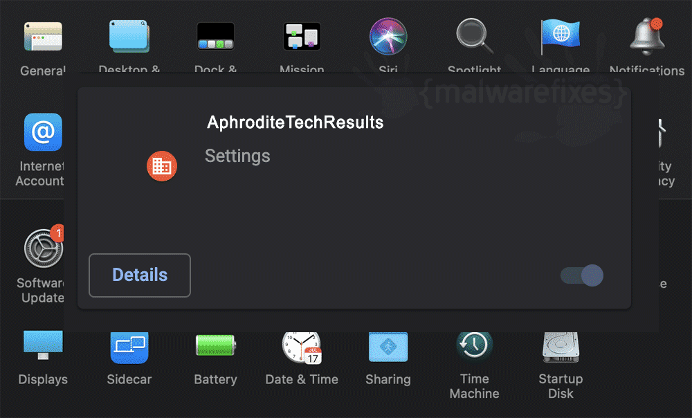 Screenshot of AphroditeTechResults App