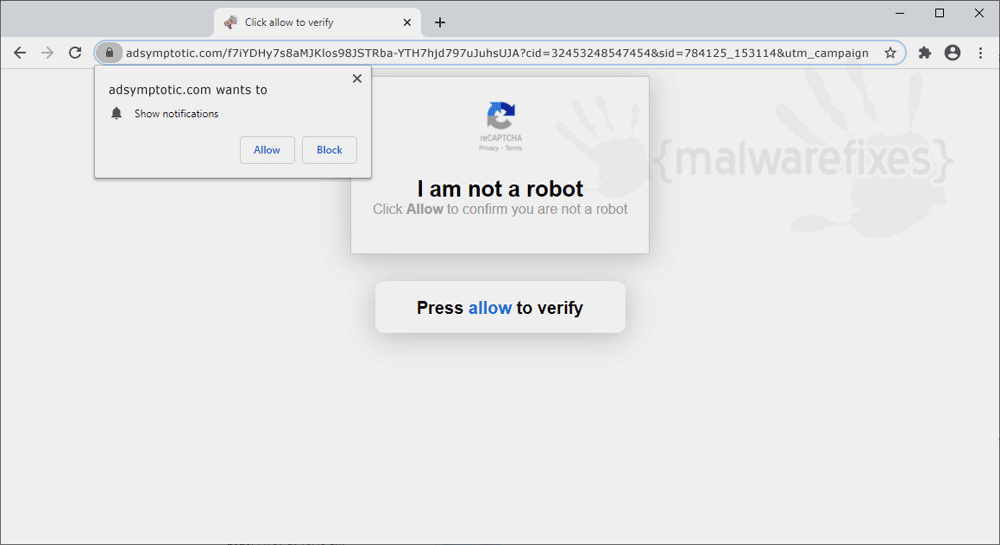 Screenshot of Adsymptotic.com