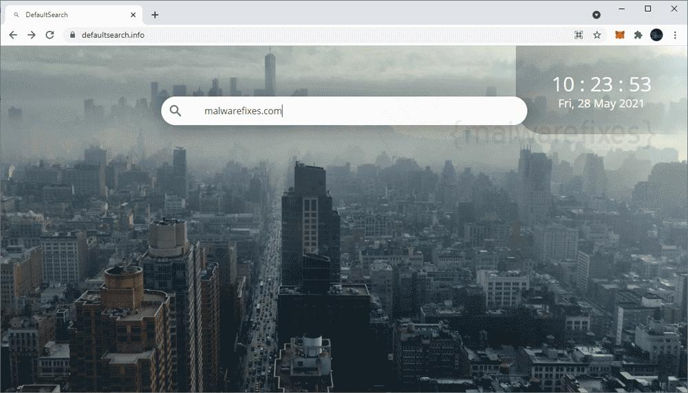 Screenshot of Defaultsearch.info