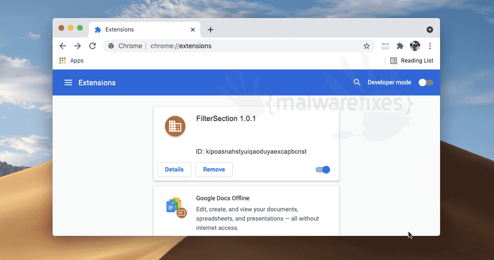 Screenshot of FilterSection 1.0.1 App