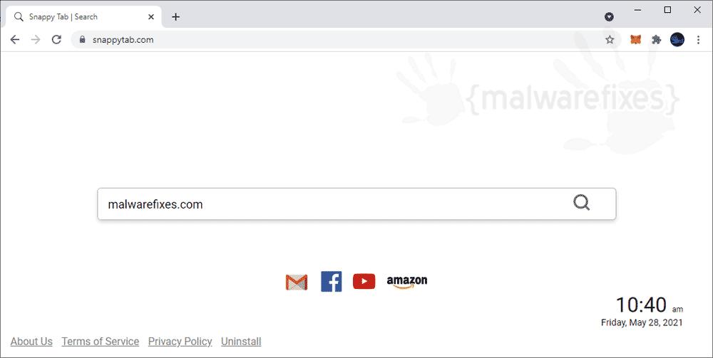 Screenshot of Snappy Tab Adware