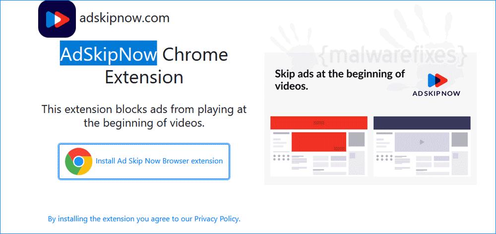 Screenshot of AdSkipNow