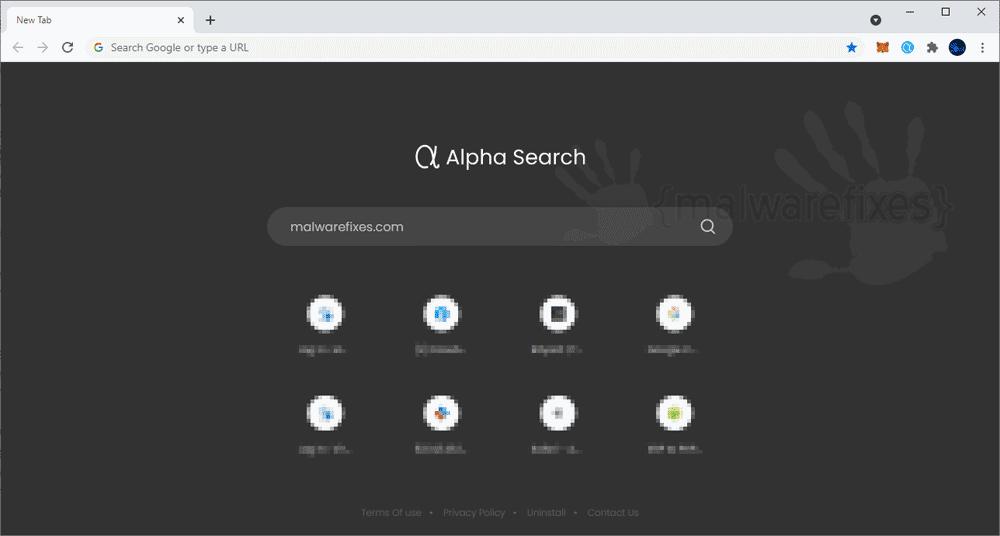 Screenshot of Alpha Search