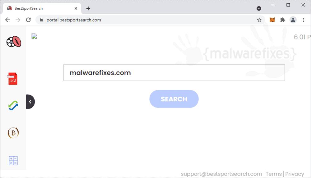 Screenshot of BestSportSearch