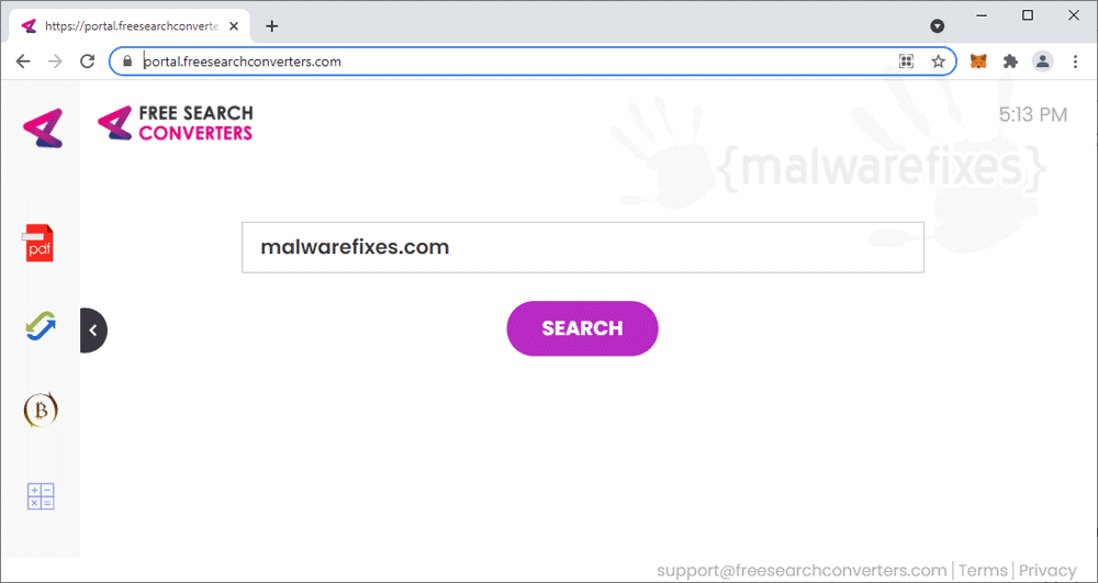 Screenshot of FreeSearchConverters