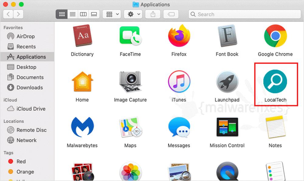 Screenshot of LocalTech App