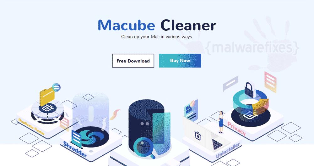 Screenshot of Macube Cleaner