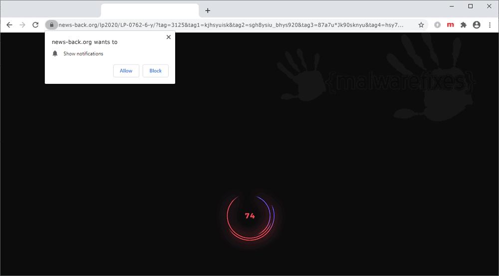 Screenshot of News-back.org