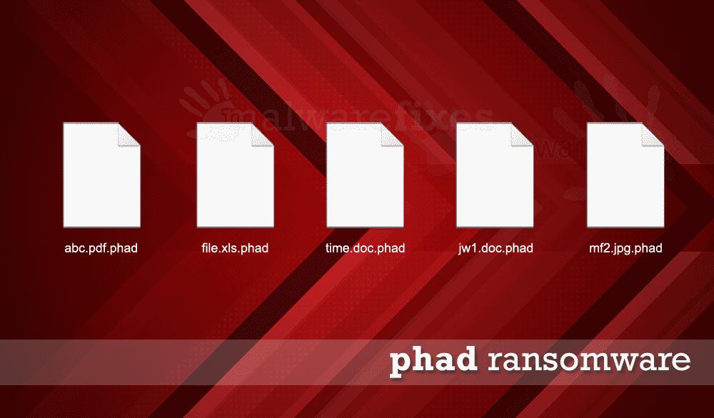 Screenshot of Pahd encrypted files