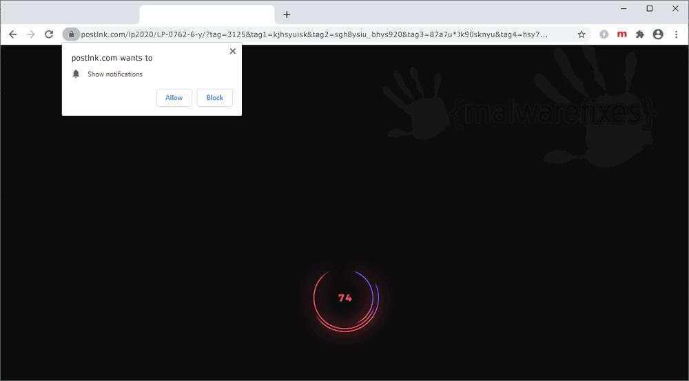 Screenshot of Postlnk.com website
