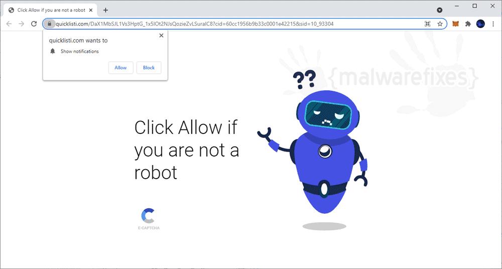 Screenshot of Quicklisti.com website