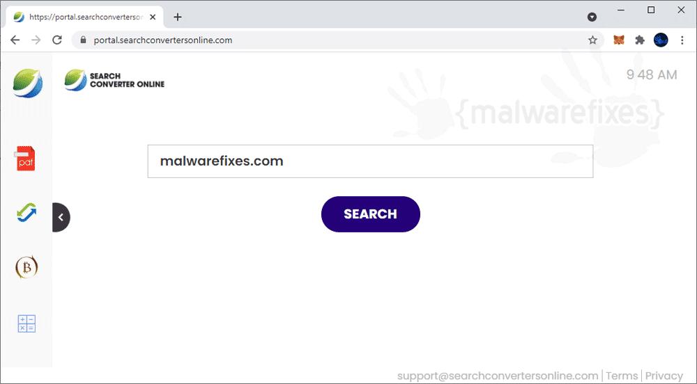 Screenshot of SearchConverterOnline website