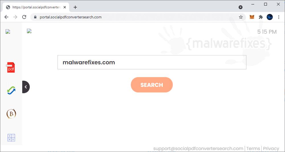 Screenshot of SocialPdfConverterSearch