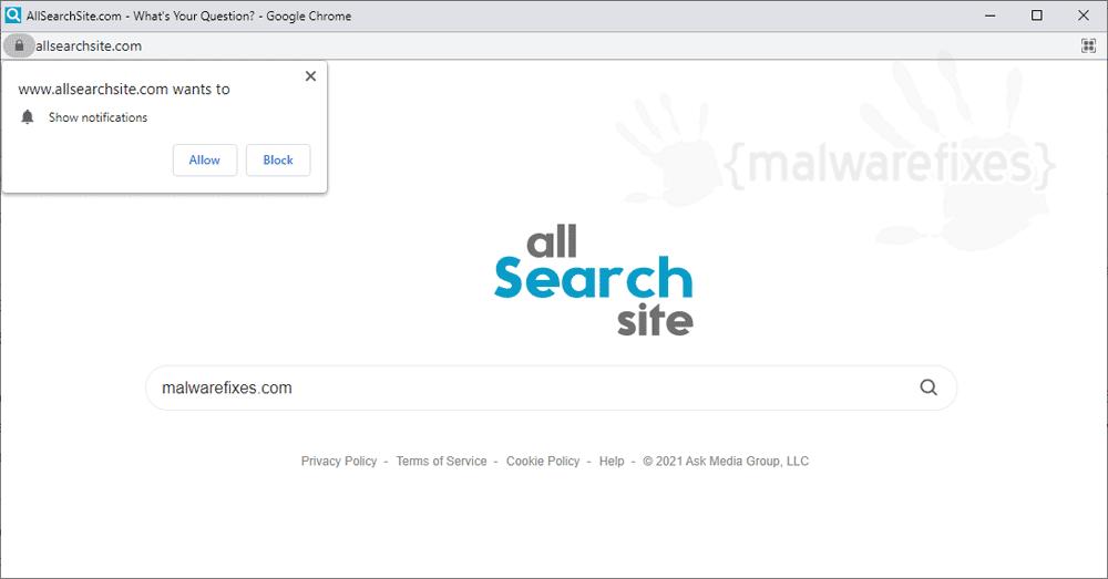 Screenshot of Allsearchsite.com