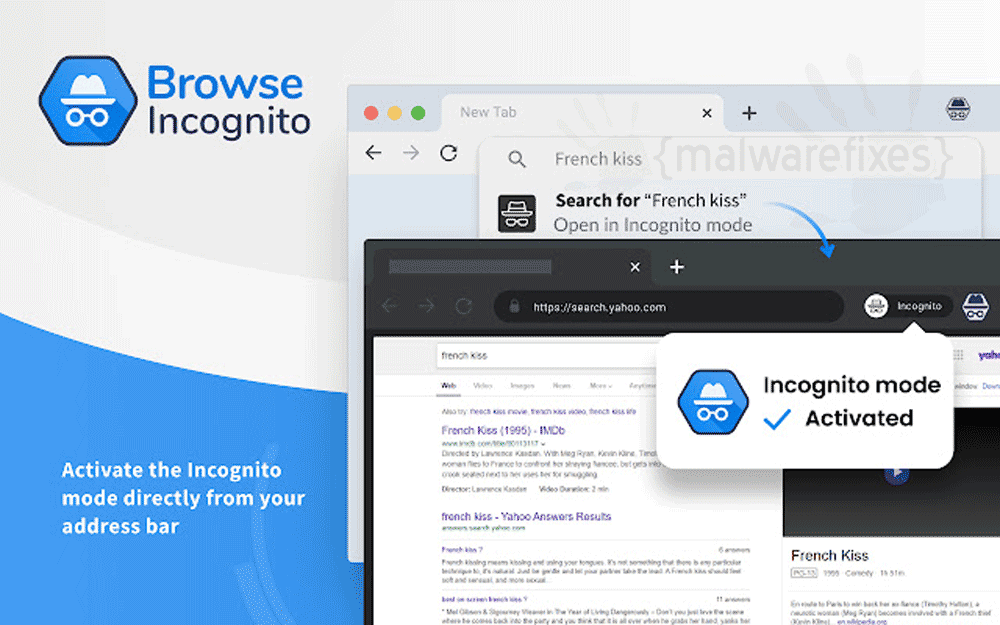 Screenshot of Browse Incognito