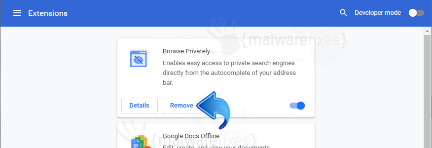 Screenshot of Browse Privately